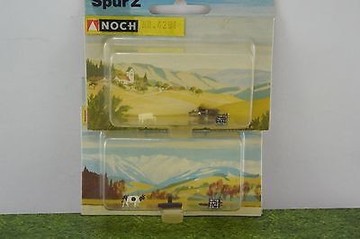 2 NOCH Farm Scenery -  Items and Cow Figure  Z Scale