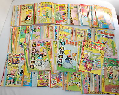 Lot of 140 1970's Vintage RICHIE RICH Harvey Comics - Various Bronze Age Series