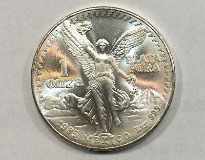 1985 1 onza Mexican Silver Libertad 1 oz Coin   ~~~  Frosty Silver ~~~