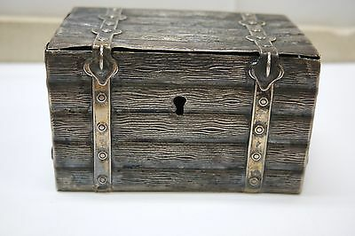 Antique 12 Loth / 750 Silver Trunk Bank