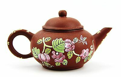 Chinese Yixing Zisha Clay Artistic Dark-Brown Teapot And Cover New # 32