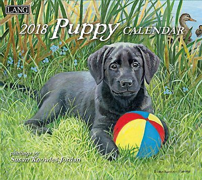 Puppy 2018 Wall Calendar NEW by Lang, Shipping Included