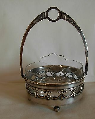 Art Nouveau Bracia Henneberg Warszawa   Silverplated Serving Dish /  Centerpiece