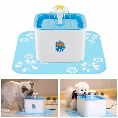 Flower Style Automatic Electric 1.6L Pet Dog Cat Water Fountain Drinking Bowl