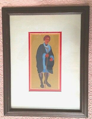 Framed Rare Original Painting Jimmie Carole Fife Stewart 1977 Creek Native Ameri
