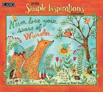 Simple Inspirations 2018 Wall Calendar NEW by Lang, Shipping Included