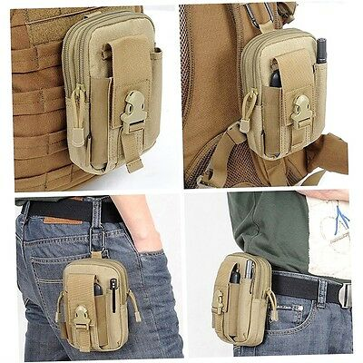 Outdoor Tactical Waist Belt Pack Bag Wallet Sports Camping Hiking Pouch MN