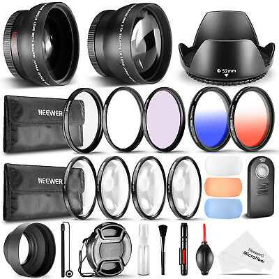 Neewer 52MM Accessory & Cleaning Kit for Nikon