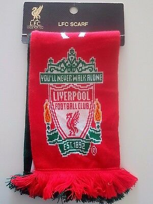 LIVERPOOL FC FOOTBALL Supporter Official Scarf Soccer Fan LFC Official Product