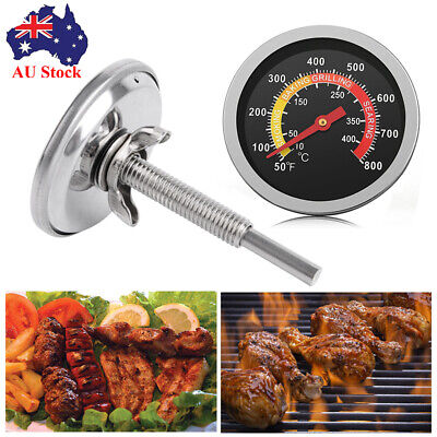 10-400℃ Barbecue Thermometer Gauge Stainless BBQ Smoker Grill Temperature【AU】