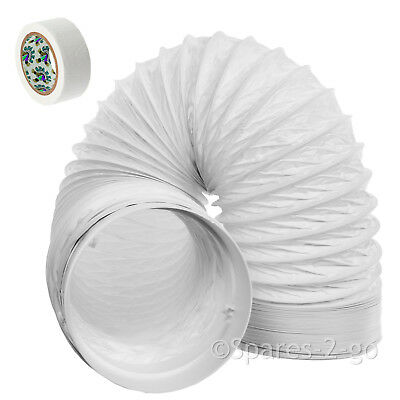 """3m Vent Hose PVC 5"""" Extension Kit for Hotpoint Indesit Cooker Hood Extractor"""