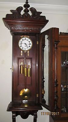 Gustav Becker Huge! Grand Sonnerie 3 Weighted Vienna. Heavily Carved. Over 5Ft!