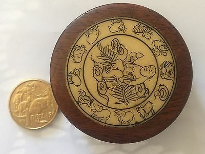 CHINESE COMPASS and ASTROLOGICAL CALENDAR SET IN WOOD
