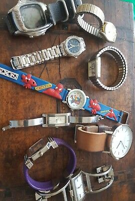 Bulk Lot of 9 Vintage Watches As Is As Found