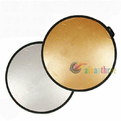 60cm 80cm 110cm Gold Silver 2in1 Light Mulit Collapsible Disc Reflector Board