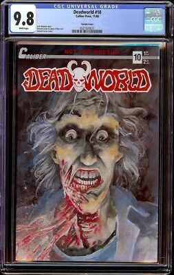 Dead World 10 CGC 9.8 White (Caliber 1988) 1st appear of Crow back cover variant