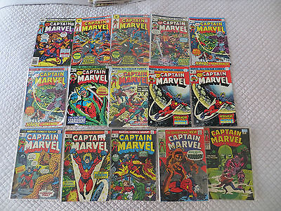 Marvel Comics Captain Marvel Collection All Shown And Listed