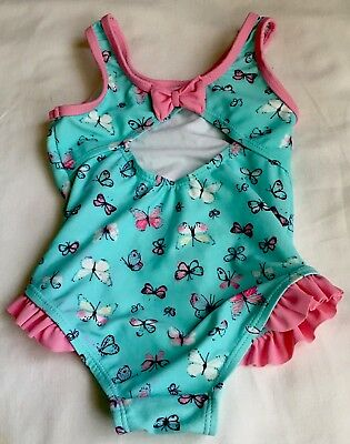 baby girl swimsuit 9-12 Months Butterflies Excellent Condition Mothercare