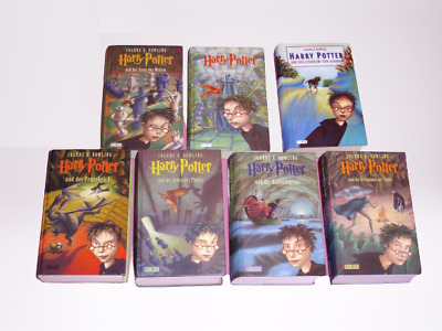 Harry Potter Komplett 1-7 gebundene Ausgaben _ Harry Potter 1 2 3 4 5 6 7