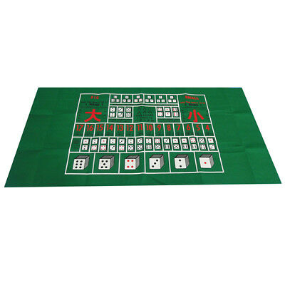 Casino Felt Layout Poker Table Top Cloth for Home Party Casino Dice Games