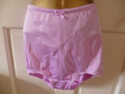 Vintage Hand Dyed Glossy  Pink Pantie Girdle Control Knickers Size 12-14