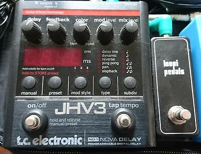 TC Electronic ND-1 NOVA DELAY - external tap tempo mod