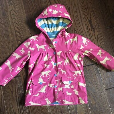 Hatley Girls Raincoat Pink With Dogs Size 3