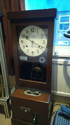 A superb National Time recorder Clocking In Clock