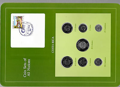 Coin Sets of All Nations Costa Rica w/card 1983-1989 UNC 10,5 Colones 1985