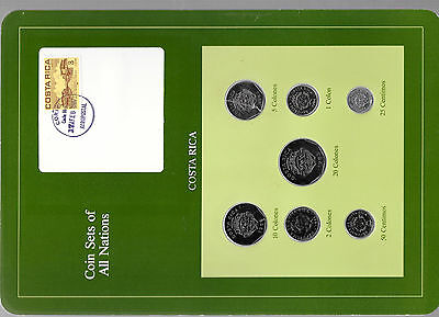 Coin Sets of All Nations Costa Rica 1983-1984 UNC 2,5,10,20 Colones 1983