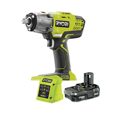 Ryobi ONE+ 18V, 400Nm Cordless 3-Speed Heavy Duty Impact Wrench with 1.3Ah Batte