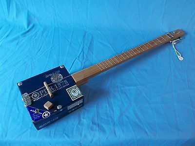 """cigarbox guitar 19 frets """"PDR"""" electro-acoustic"""