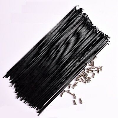 36 Pcs Original HT 14G 2mm Bike MTB Bend Spokes W/Nipples 257-293mm 259/261mm