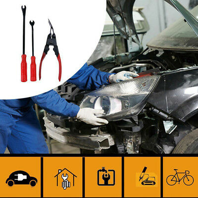 Car Door Upholstery Trim Clip Removal Pliers & Tool Combo Dash Panel Pry Bar