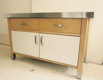 IKEA Varde Freestanding Kitchen Hob Unit Cabinet Cupboard/Drawers Beech Steel - £90.00  PicClick UK