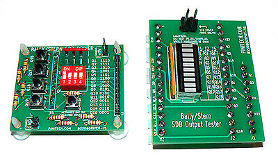 Bally/Stern Solenoid Driver Board Tester - Diagnostic Tool for SDB Bench Testing