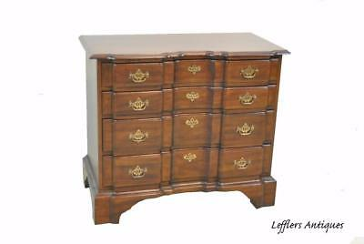 Chippendale Block Front Walnut Chest By Davis Furniture Company
