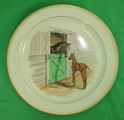 Abercrombie & Fitch Equestrian Dinner Plate by Frank Vosmansky