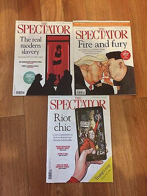 The Spectator magazines August 2017 3 x new