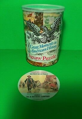 1969 Humble Oil & Refining Co GREAT MOMENTS SEALED JIGSAW PUZZLE Gold Rush 1849