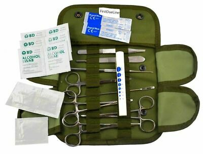 U.S. Military Surplus Medical Tools with Case