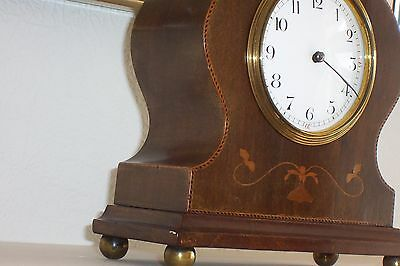 Inlaid Mantel Clock with French Barrel Movement - repair