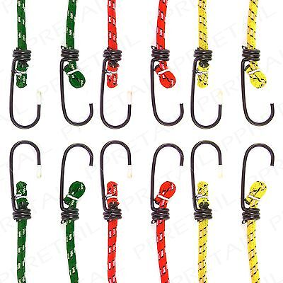 6Pc HEAVY DUTY BUNGEE LUGGAGE STRAPS Elastic Cord Baggage Car Boot Stretch Rope