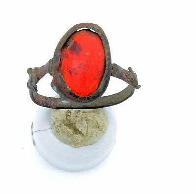Medieval Viking Period Ring with Ruby gemstone