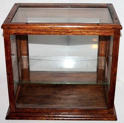 Antique Country/ Tobacco / General Store Counter Top Oak Showcase / Display Case