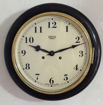 """Perfect 12"""" Smiths Enfield Industrial/Station/School Factory Striking Wall Clock"""