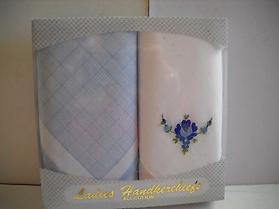 Handerchiefs - Womans Boxed Embroidered