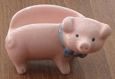 Nice Vintage Little Pink Pig Kitchen Figurine - Knife Rest - MANY USES - CUTE