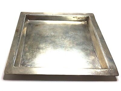Tiffany & Co Makers Square Plate Engraved in Sterling Silver GV77215