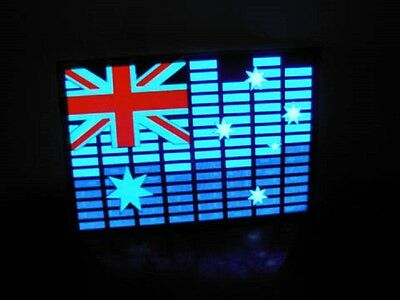 1X Australia Flag Light Up Flashing LED Glow Equalizer